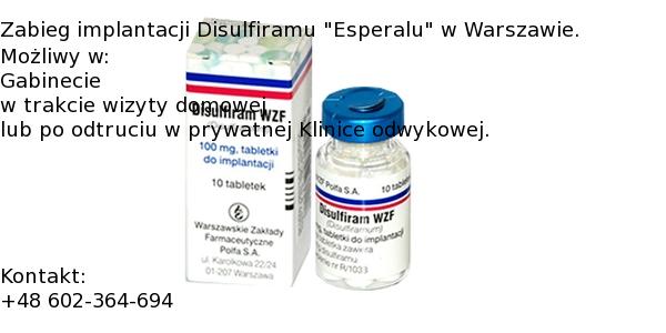 Implantacja Esperalu w Warszawie